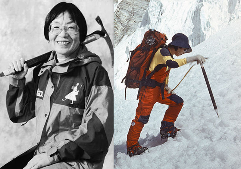 Junko Tabei - The first woman to ascent the highest peak in the world.