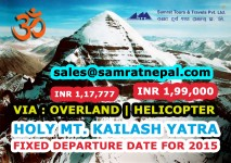 KAILASH FIXED DEPARTURE for 2015