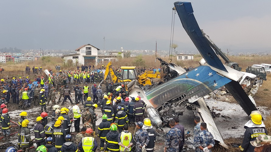 US-Bangla Airlines plane crashes at Kathmandu airport