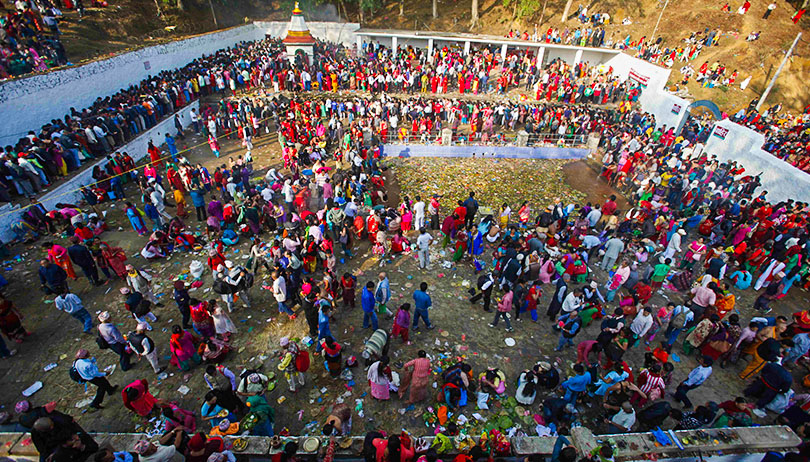 "The festival of ""Mata Tritha Puja"""