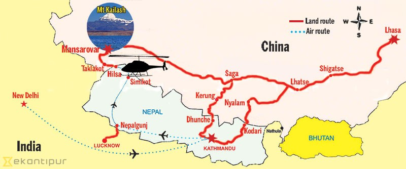 Kailash Yatra Map