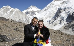 Anniversary at Kalapathar with 'Nepal is safe' message