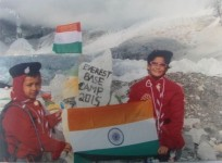 Indian children say very excited to reach Mt Everest base camp